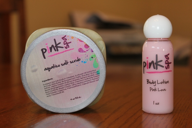 pink spa scrub